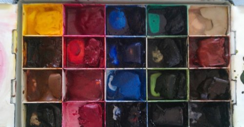 My Studio Palette and favourite Pigments