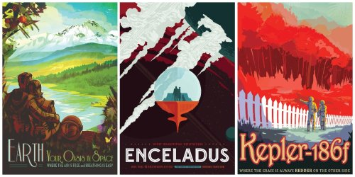 Visions Of the Future: 16 Gorgeous NASA's Space Travel Posters in Retro Style