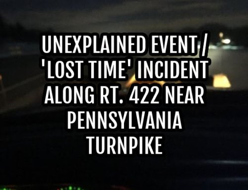Unexplained Event / 'Lost Time' Incident Along Rt. 422 Near Pennsylvania Turnpike