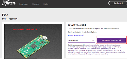 Getting started with CircuitPython on Raspberry Pi Pico RP2040