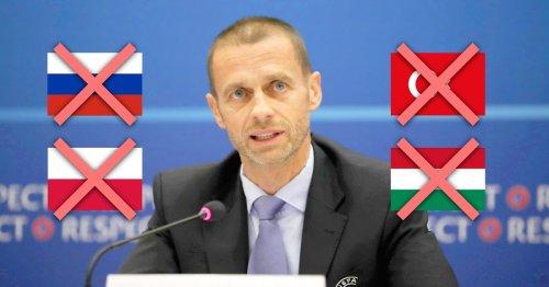 UEFA setzt klares Zeichen für Toleranz: Ungarn, Türkei, Russland und Polen dürfen bei der EM nicht mehr mitspielen