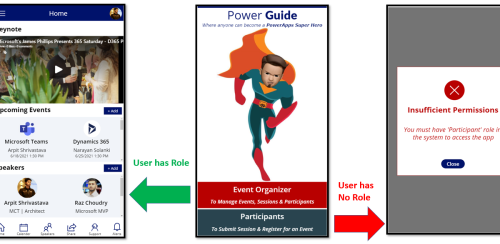 PowerApps - Get Canvas App Logged-In User Role from Dynamics 365