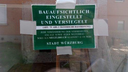 Ratten und versiegelte Wohnungen in Würzburg-Heidingsfeld