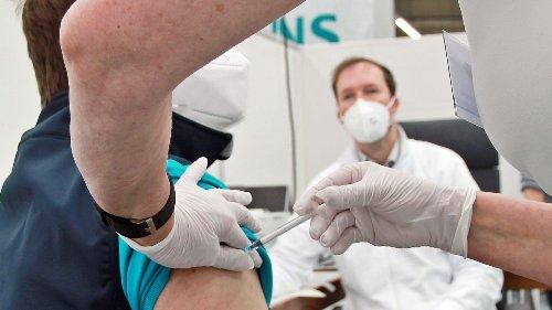 Corona-Impfaktion für Mitarbeitende bei Siemens in Cham