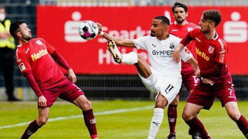 2. Liga: Regensburg droht nach 0:2 in Sandhausen die Relegation