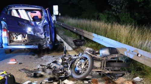 Bei Ansbach: Motorradfahrer stirbt bei Auffahrunfall auf der A6