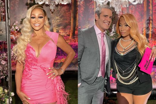 """Karen Huger Teases Nicki Minaj at the RHOP Reunion: """"She Held Their Feet to the Fire""""   Bravo TV Official Site"""