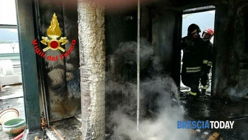 Incendio a Iseo: ristorante in fiamme, intervengono i Vigili del fuoco