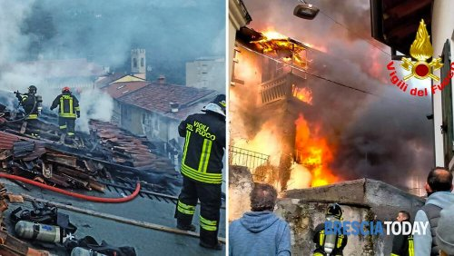 Devastante incendio: fiamme alte 10 metri, quattro famiglie senza casa