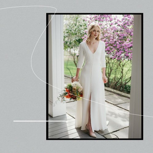 Exclusive: Elizabeth Lail's Wedding Dress Came to Life on Zoom