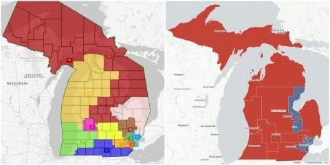 Few incumbents are safe in Michigan's draft congressional district maps   Bridge Michigan