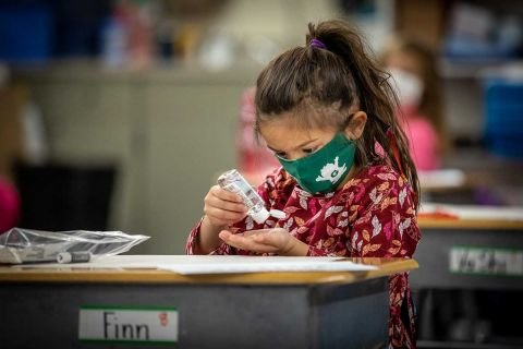 Gov. Whitmer urges Michigan schools to mask up, stops short of mandate | Bridge Michigan