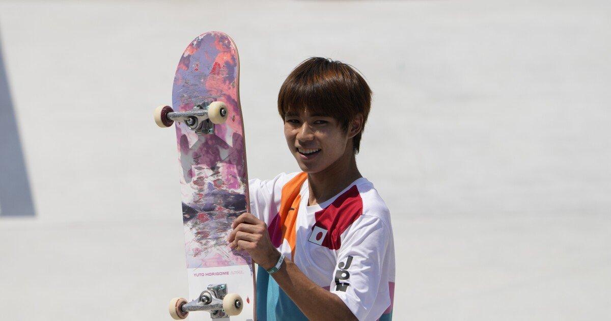 Japan's Yuto Horigome takes gold in street skateboarding, besting U.S. efforts