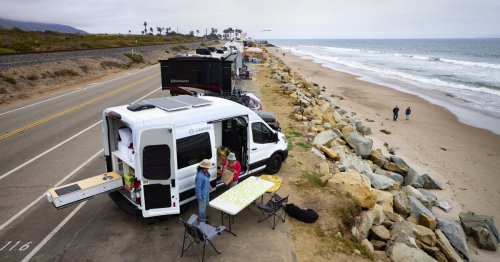 Shower? Check. Flat-screen TV? Check. Try 'roughing it' in a tricked-out camper van