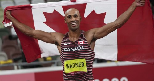 Canada's Damian Warner sets Olympic record on the way to decathlon gold