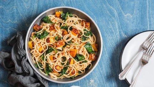 Feierabend-Blitzrezept: Diese Kürbis-Spinat-Pasta gelingt schnell und ist gesund
