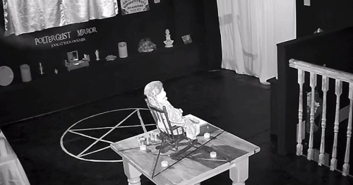 Video: 'Most haunted doll in Britain' rocks in chair inside empty room