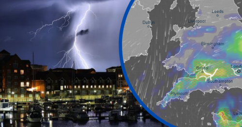 Thunderstorms mapped amid 48-hour rain and flood warning