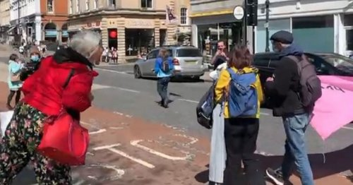 Angry bus passengers swear at 'family protest'