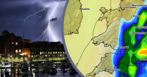 Weather charts show 12-hour deluge heading to Bristol