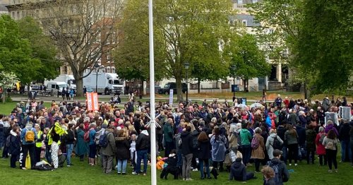 Anti-vax march through Bristol causes bafflement and alarm