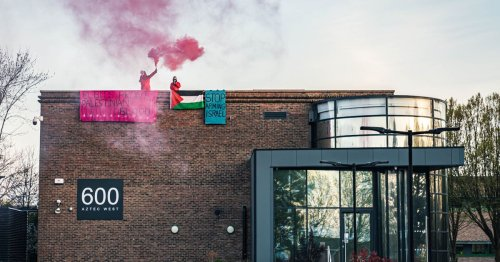 Protesters target Israeli arms company in Bristol