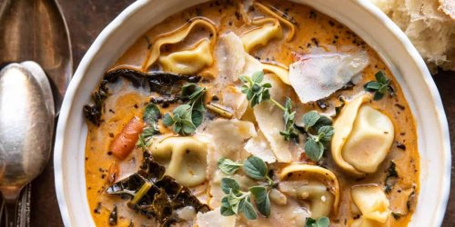 Half Baked Harvest's Slow Cooker Creamy Tortellini Vegetable Soup