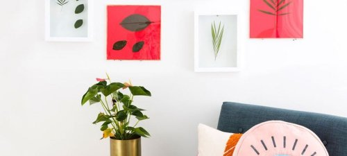 Save the Summer Green All Year Long with DIY Pressed Leaf Wall Art