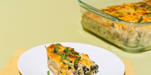 Keto Comfort Food Looks Like This Chicken and Cauliflower Rice Casserole Recipe