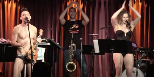 VIDEOS: The Skivvies Return to the Green Room 42 With Matt Doyle, Nate Hopkins, and Diana Huey