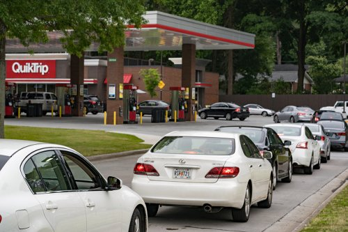 Viral Videos And Pictures Show People Panic Buying And Hoarding Gas Amid 'Gas Shortage' Across Several States