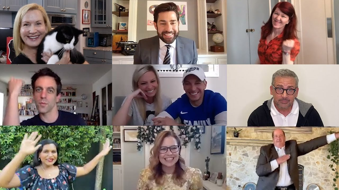 'The Office' Cast Reunites For A Zoom Wedding Officated By John Krasinski, Recreates The Show's Wedding Dance - BroBible