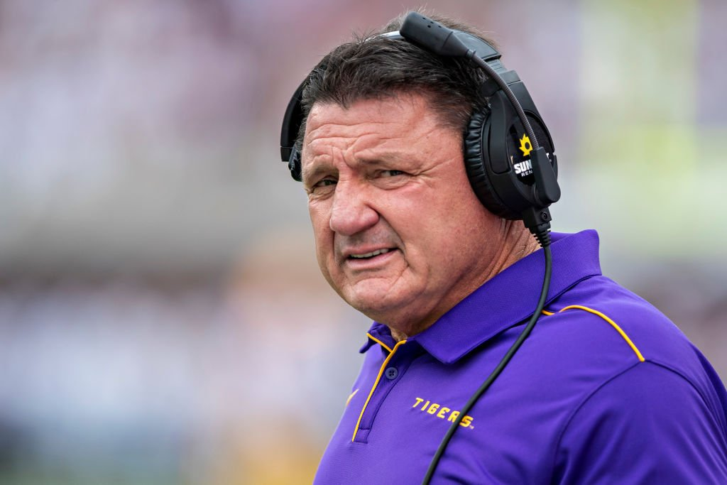 Ed Orgeron Says 'Most' Of LSU Players Have Already Had COVID-19, Hopeful They Won't Catch It Again - BroBible