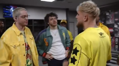 Things Get Awkward After Pete Davidson Gets Muted For Asking Jake Paul Uncomfortable Question Backstage Before Paul's Fight Vs Ben Askren