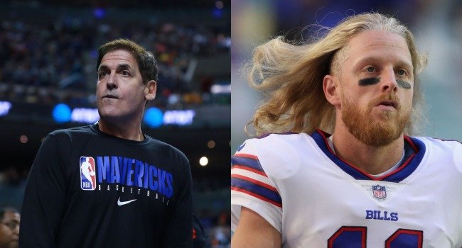 """Mark Cuban Offers To Buy Cole Beasley's Wife Pfizer Stock After Bills WR Said He'd Get Vaxxed If The Company Put """"% Of Earnings In Wife's Name"""""""