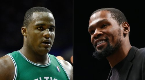 Kevin Durant Fires Back At Ex-Celtics Player Glen 'Big Baby' Davis For Appearing To Threaten Kyrie Irving Over Logo Stomp - BroBible