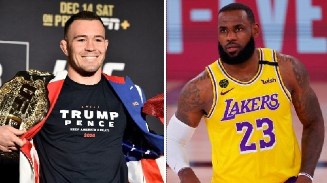 Fans accuse UFC's Covington of being secret LeBron fan after digging up tweets