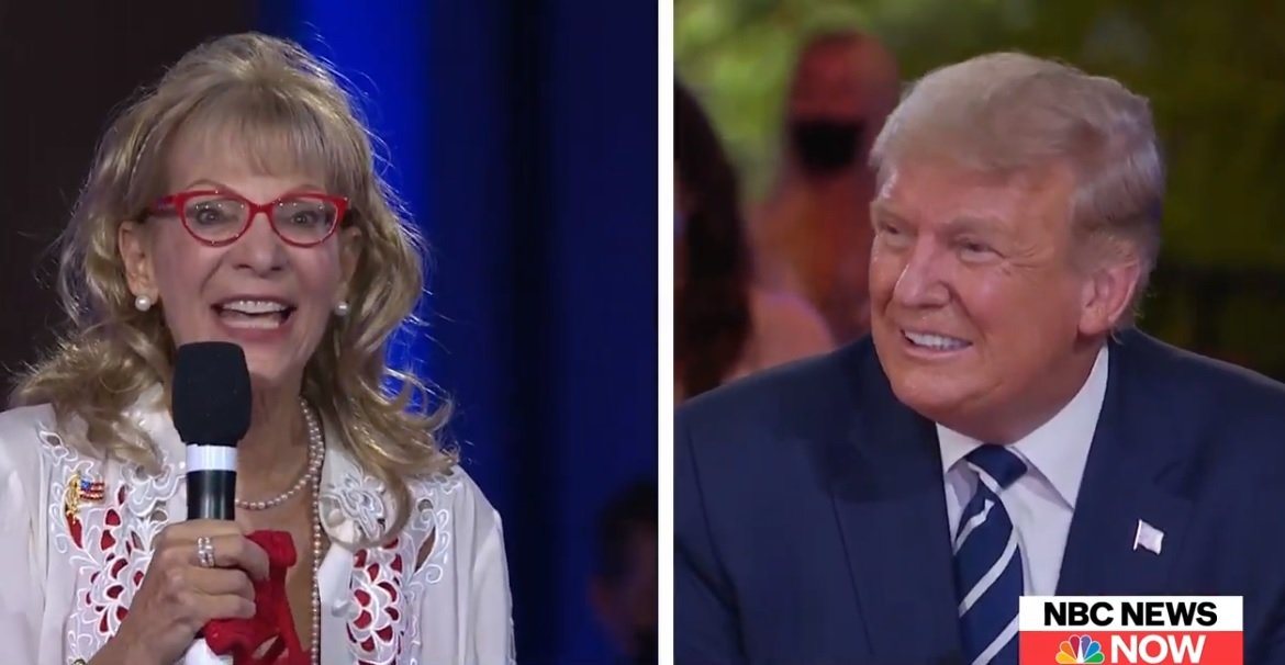 Things Get Awkward When Woman Hits On Donald Trump During NBC Town Hall - BroBible