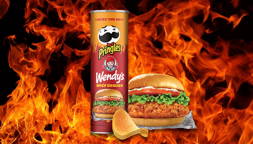 REVIEW: The New Pringles Wendy's Spicy Chicken Sandwich Flavor