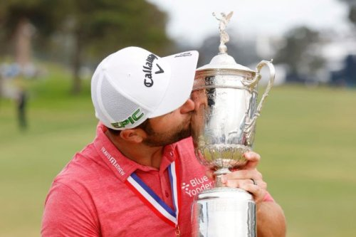 Jon Rahm Is Celebrating The U.S. Open By Chugging Beers Out Of The Trophy And Listening To 'We Are The Champions'