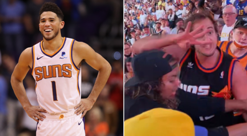Devin Booker Fires Back At Critics Who Are Mad At Him For Giving 'Suns In 4' Guy Free Tickets For Beating Up Nuggets Fans In Viral Video