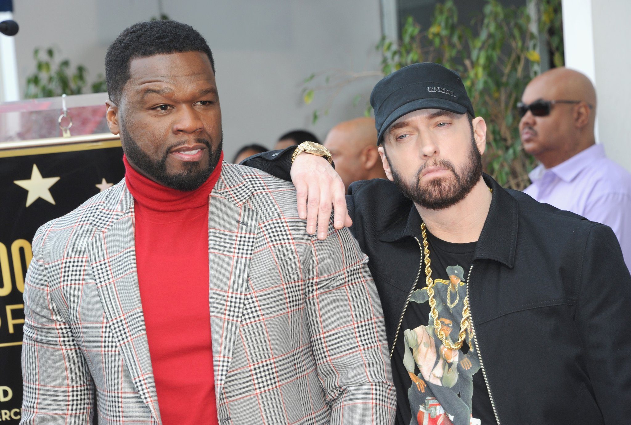 50 Cent Reveals The Heartwarming Random Texts He Receives From Eminem That Make His Day - BroBible
