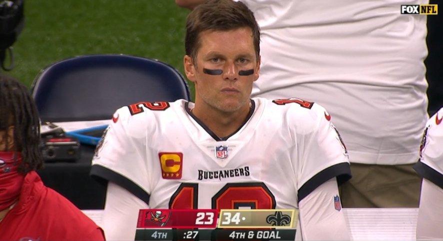 NFL Fans Mock Tom Brady After Bucs Lose Season Opening Game Saints - BroBible