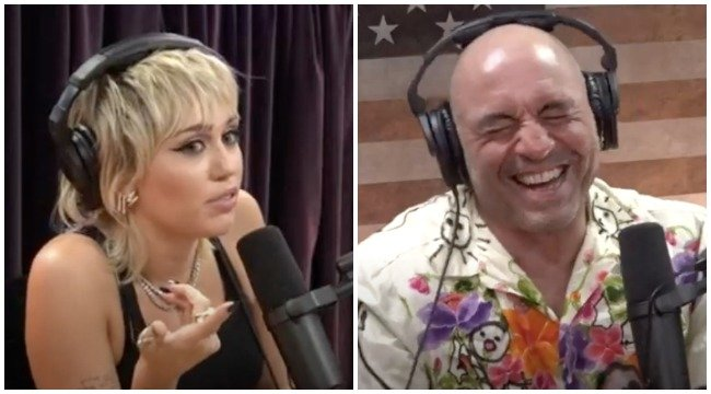 Miley Cyrus perfectly blasted Joe Rogan's show to his face