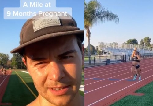 Husband Bets 9-Months Pregnant Wife She Can't Run An 8-Minute Mile – She Absolutely Crushes That Time