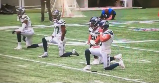 Seahawks And Falcons Players Took A Knee On The Field During Opening Kickoff - BroBible