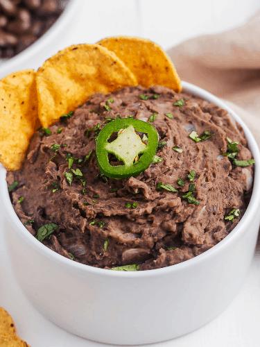 Easy Refried Beans Recipe | Broke Bank Vegan