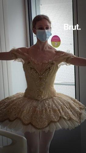 Léonore Baulac danse pour les enfants de l'hôpital Necker | Brut.