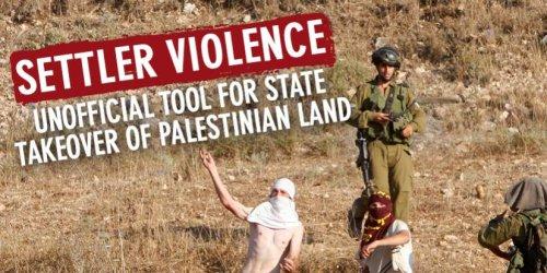 State-backed Settler Violence