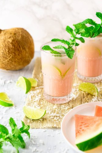 Coconut-Watermelon Mojito